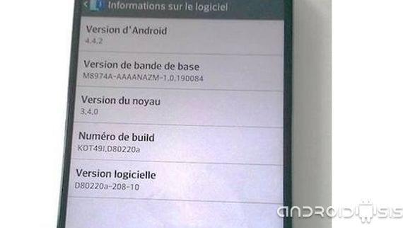 LG G2 actualización oficial a Android 4.4.2 para la semana que viene