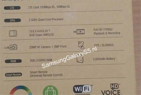 Se filtra la supuesta caja del Samsung Galaxy S5
