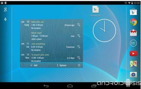 Widgets útiles para Android, hoy Calendario Widget