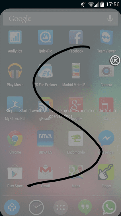 Aplicaciones increíbles para Android: Hoy Finger Shorcuts Launcher