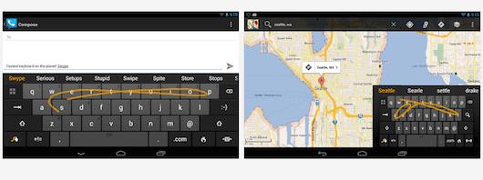 teclado Android Swipe