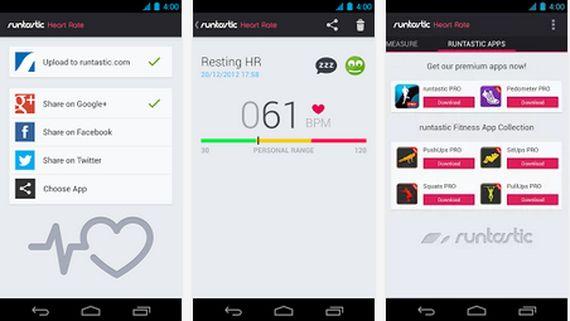 Aplicaciones increíbles para Android, Hoy Runtastic Heart Rate