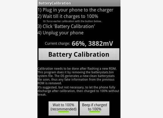 Aplicaciones increíbles para Android, Hoy Battery Calibration