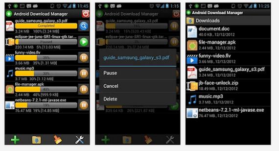aplicaciones video Android Download Manager