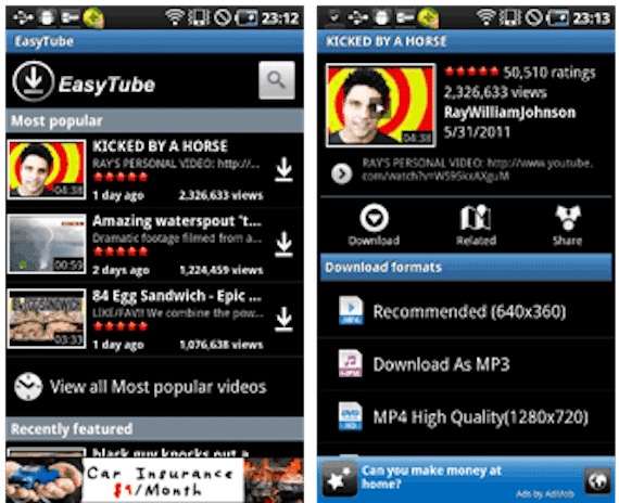 aplicaciones videos easy tube