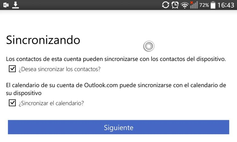 Cómo conseguir sincronizar Outlook en Android