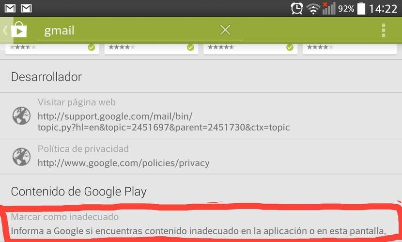 Cómo denunciar contenido como inadecuado en el Play Store