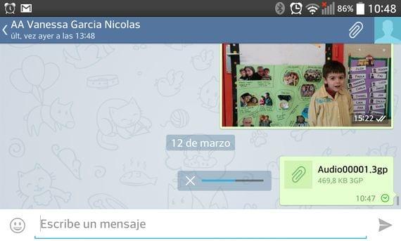 Cómo enviar notas de voz con Telegram