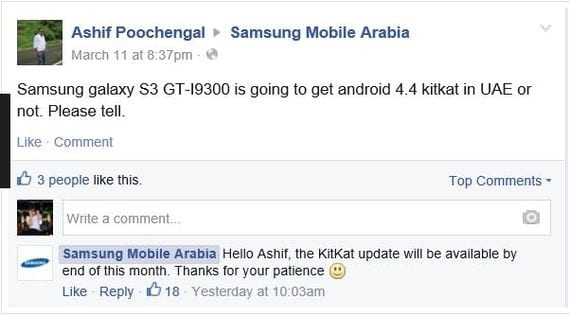 ¡¡Confirmado!!: Samsung Galaxy S3 tendrá actualización oficial a Android Kit Kat