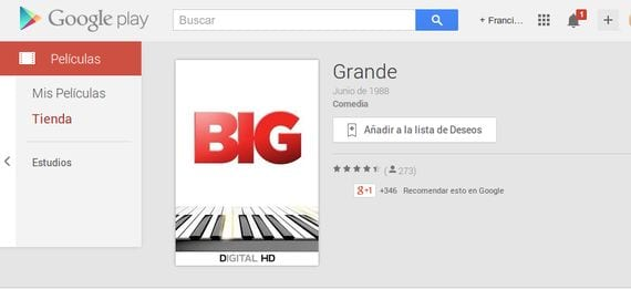 Google Play Aniversario: Descarga BIG la película de Tom Hanks gratis
