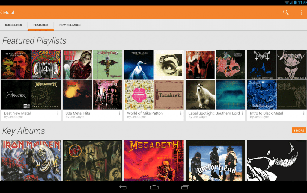 Google Play streaming musica