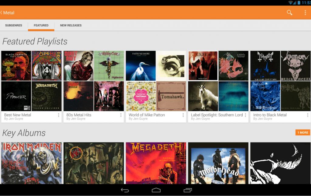 Google Play streaming musica