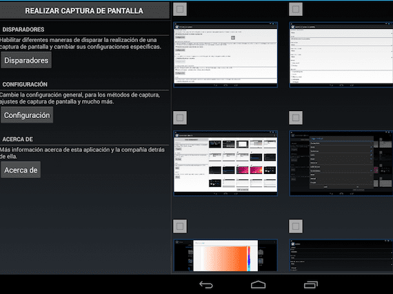 capturas de pantalla en Android
