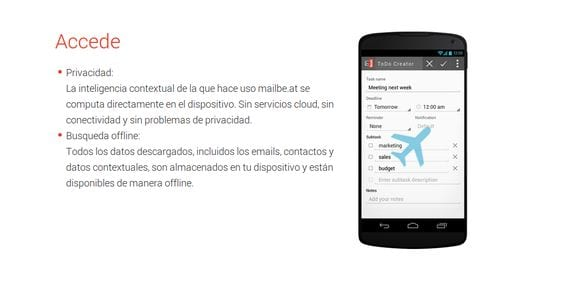 Mailbe.at - espectacular cliente de correo para Android