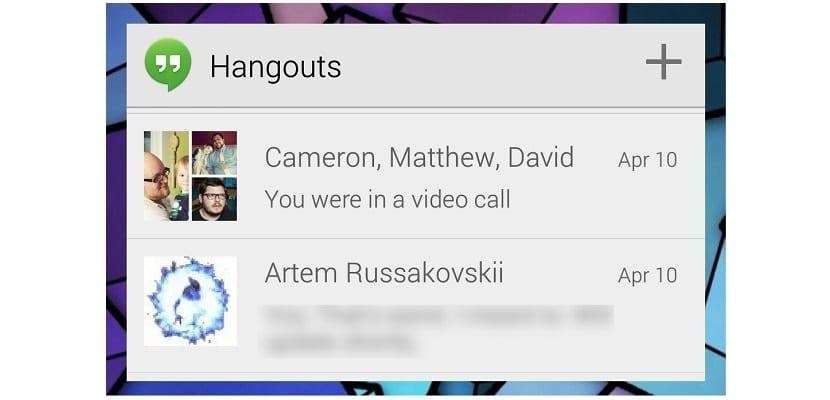Widget Hangouts