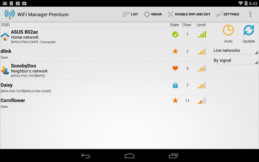 Wifi Manager para averiguar contraseña wifi