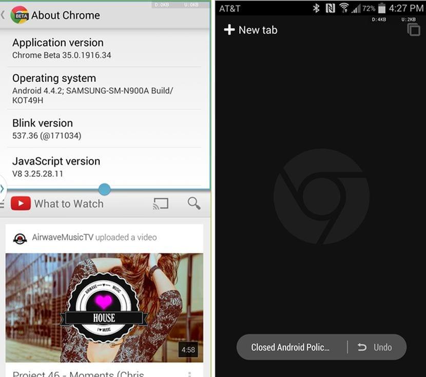 Descarga Chrome Beta 35 para Android con muchas mejoras