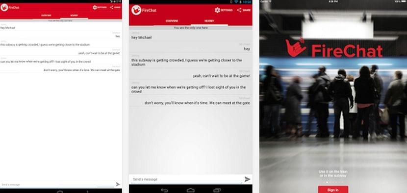 Descarga FireChat la aplicación de mensajería instantánea sin conexión a la red