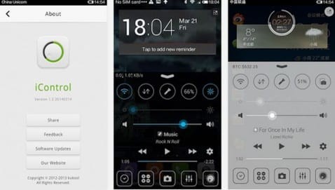 iOS7 Control Center disponible de manera gratuita para Android