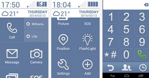 Launchers para Android: Hoy Necta Launcher
