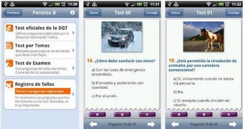 Los tests de examen de la DGT directamente en tu Android