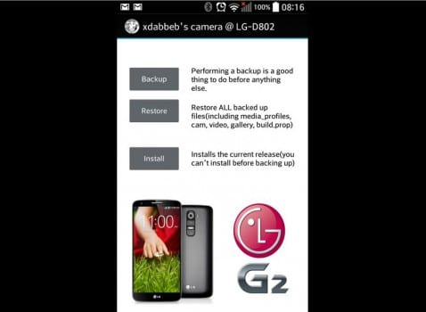 Mod cámara LG G2 o cómo mejorar la cámara de tu LG G2