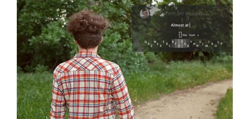 Teclado Minuum en las Google Glass