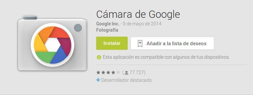 Instala la cámara de Google en versiones de Android 4.1, 4.2 y 4.3