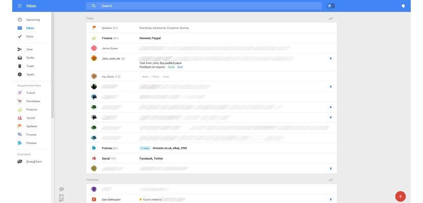 interfaz web de Gmail