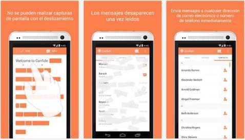 Mensajes gratuitos y totalmente seguros desde tu terminal Android con Confide