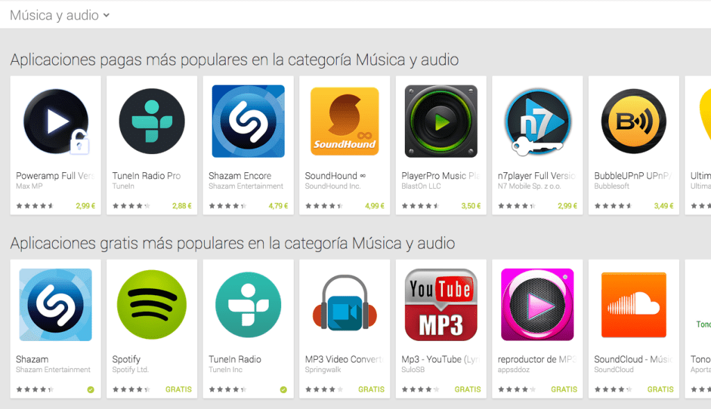 reproductores Google Play