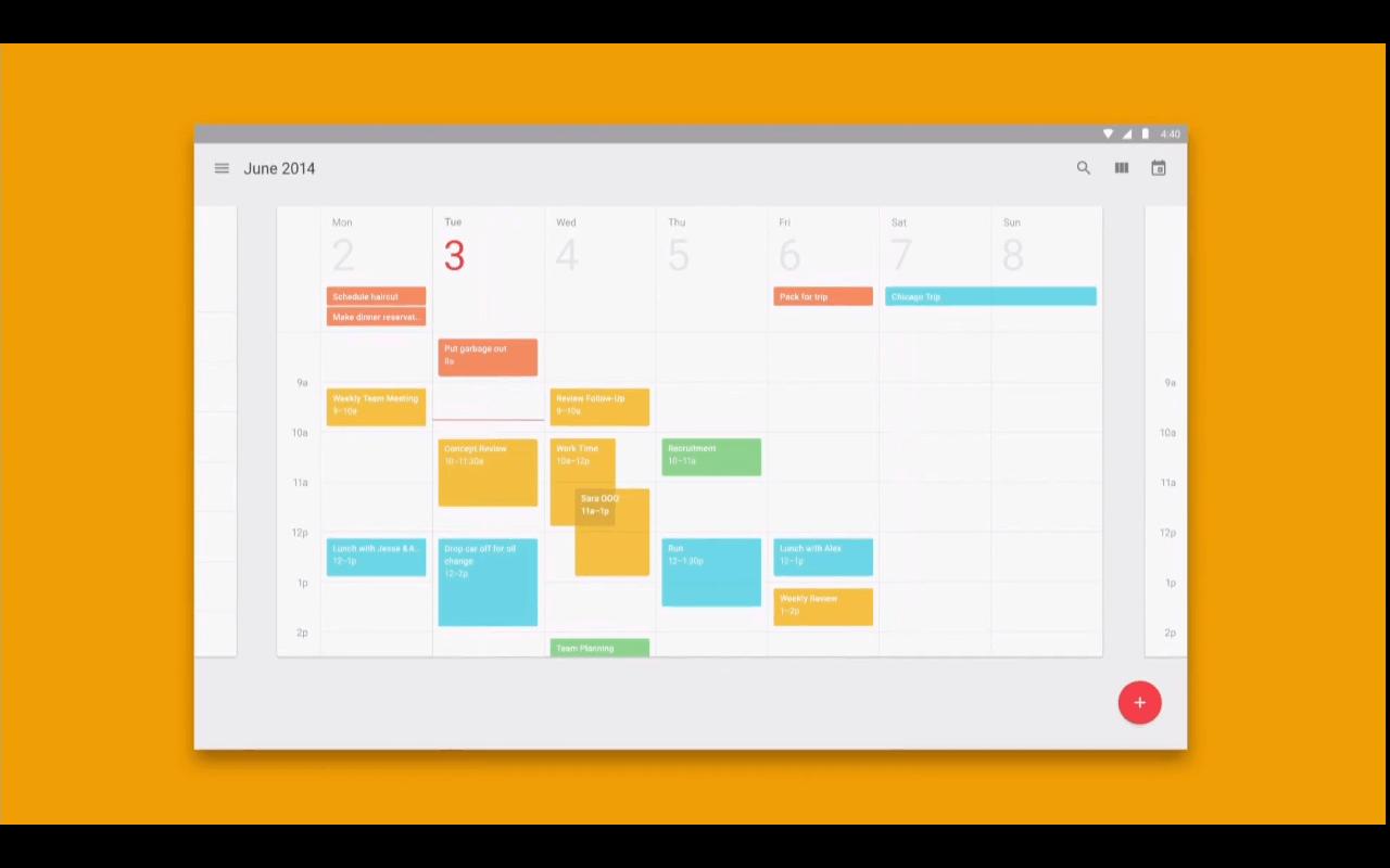 Calendario de Android L