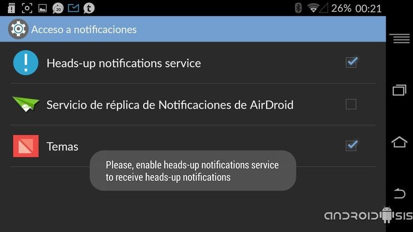 [APK] Instala el nuevo sistema de notificaciones de Android L, Heads Up en cualquier Android
