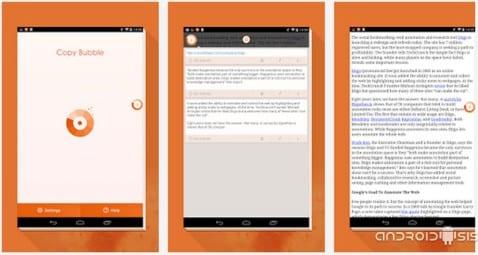 Aplicaciones increíbles para Android: Hoy Copy Bubble