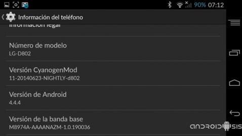 Cómo actualizar el LG G2 a Android 4.4.4