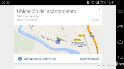 Google Now te dice donde has aparcado tu coche, OK Google