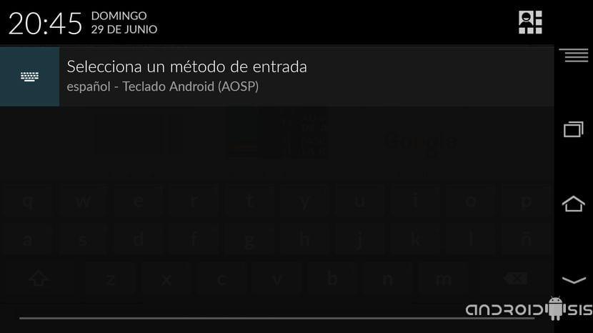 Las notificaciones del selector de teclado desaparecen en Android L