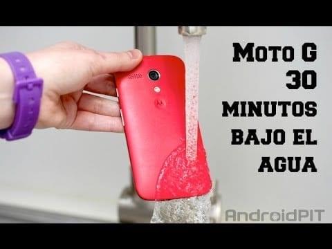 Moto G resistente al agua