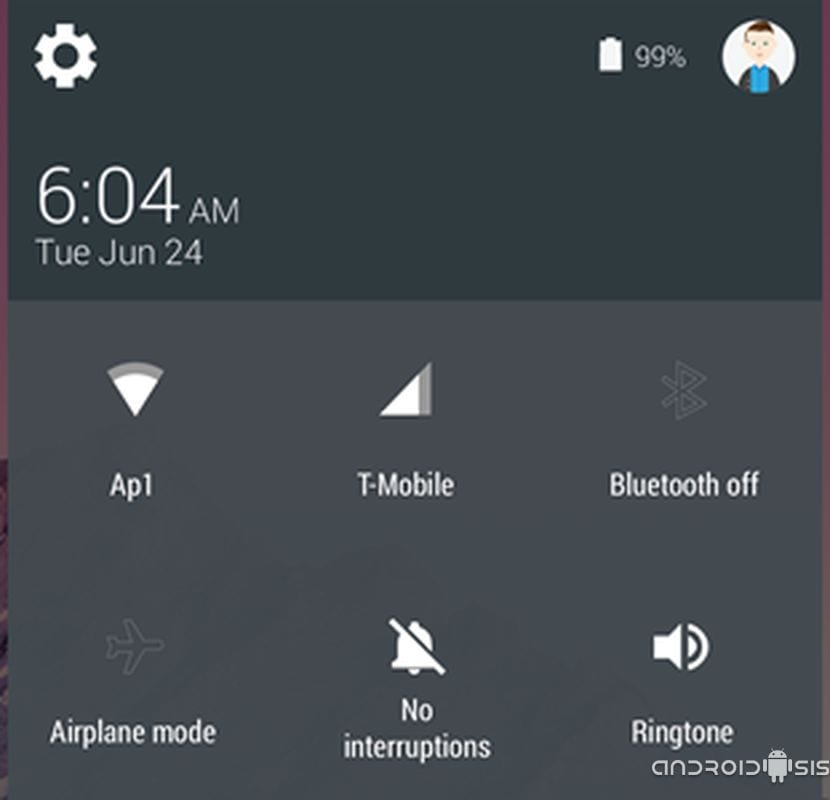 Nueva versión de ajustes rápidos, Quick Settings, para Android 5.0 Lollypop