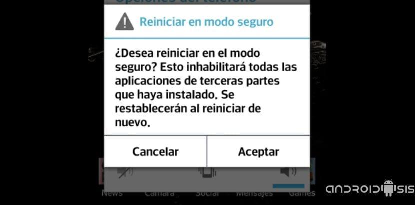 ¿Problemas con Android?, accede al modo seguro