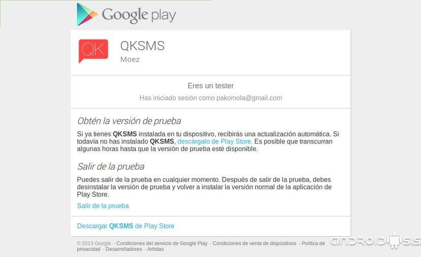 ¿Quieres ser Beta Tester de QKSMS?