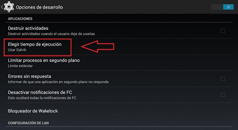 rendimiento de Android L