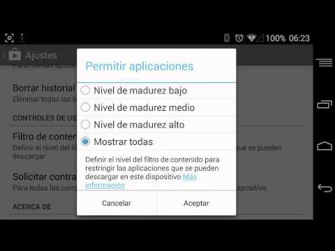 Todas las configuraciones del Play Store de Google