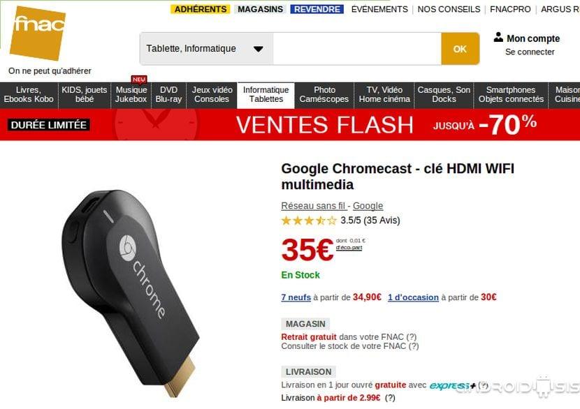2 opciones para comprar Chromecast en una tienda física