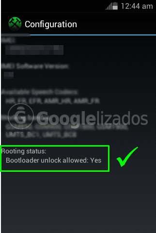 bootloader unlock allowed: YES