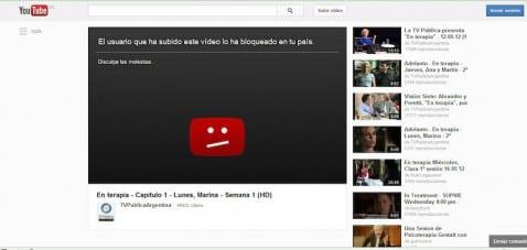 Youtube bloqueo