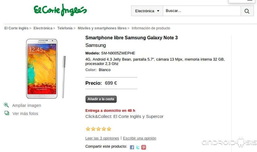 Ahora es el momento de comprar el Samsung Galaxy Note 3 al mejor precio en Phone House