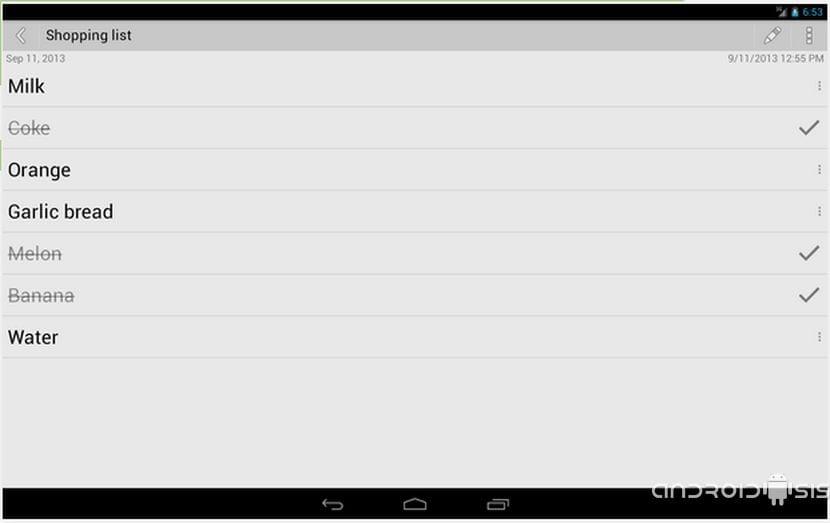 Aplicaciones increíbles para Android: Hoy Color Note