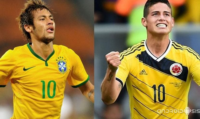 #BrasilvsColombia en directo, comienzan los cuartos de final de #Brasil14