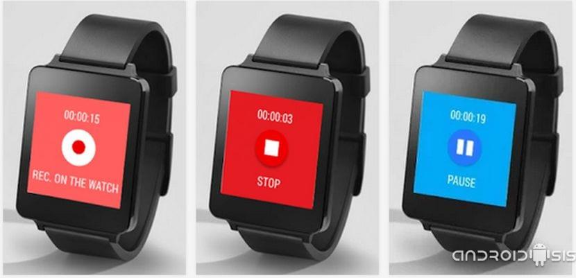 Las mejores aplicaciones para tu G Watch, hoy Wear Audio Recorder